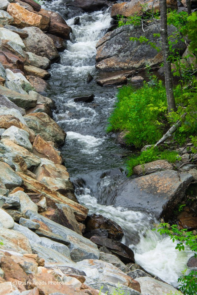 Rushing brook in Maine