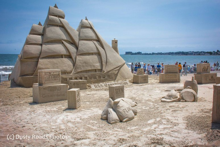 Old Ironsides in sand