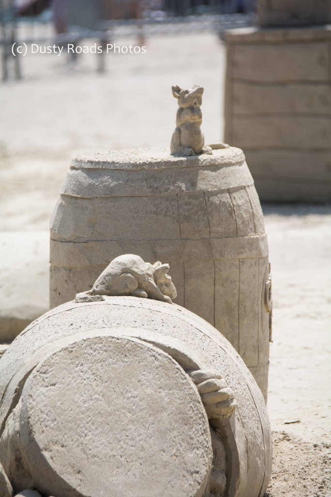 Storage barrels and rats