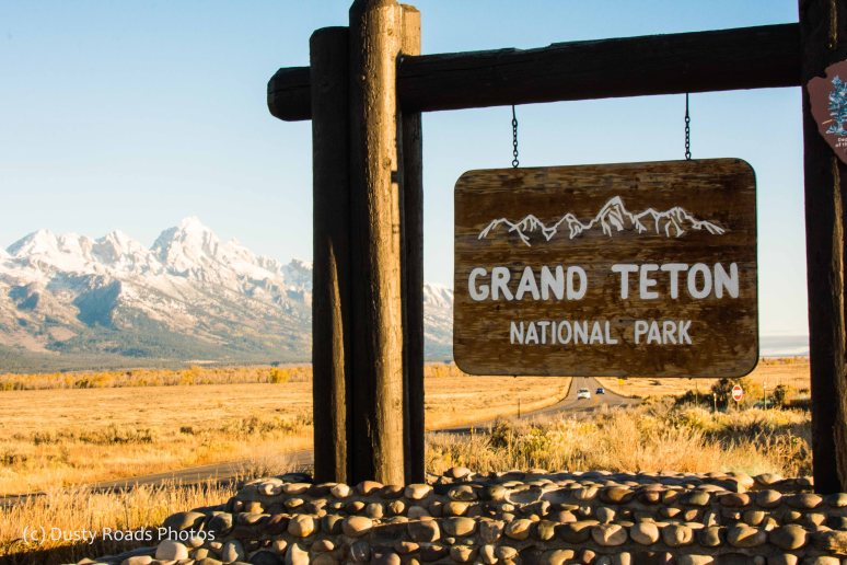 Entering Grand Teton NP